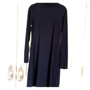 Title Nine Black mock turtleneck dress